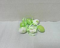 Яичко декоративное, зеленое, из пластика, 4х2,8см