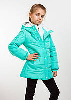 """Детская демисезонная куртка """"Канада"""" мята; 104-110, 116, 122, 128, 140 р-ры"""