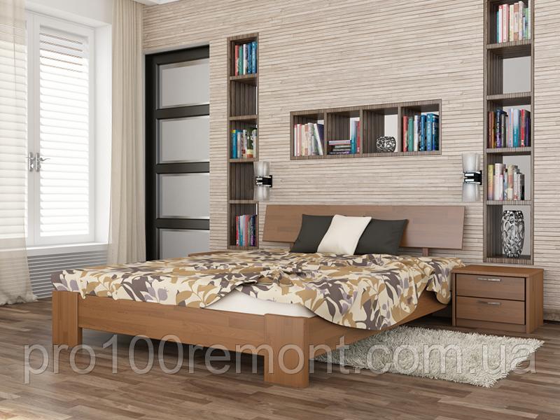 Дерев'яне ліжко Титан від ТМ Естелла