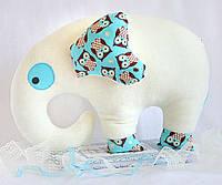 Подушка Слон белый HANDMADE