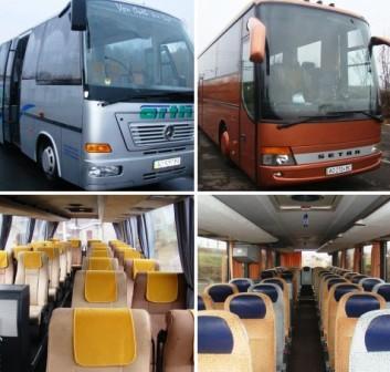 Автотрансфер в Румынию из Мукачево. Автобусы на 45,26 посадочных мест.