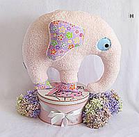 Подушка Слон розовый HANDMADE