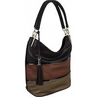 Красивая женская сумка  коричневый