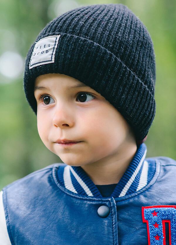 Детская шапка ПРИНСТОН для мальчиков оптом  размер универсальный(48-52)