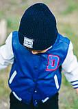Детская шапка ПРИНСТОН для мальчиков оптом  размер универсальный(48-52), фото 2