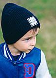 Детская шапка ПРИНСТОН для мальчиков оптом  размер универсальный(48-52), фото 3