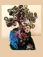 Декоративное денежное  дерево по фен шуй