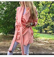 Женское пальто из кашемира с поясом