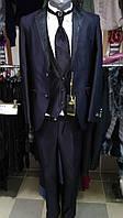 Классический костюм набор( галстук безрукавка брюки пиджак)