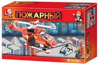 """Конструктор """"SLUBAN"""" """"Пожарные спасатели"""", """"Вертолёт"""" 155 дет., кор. 25*18.5*4,5 см (36шт)"""