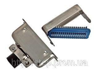 Разъем CENC-24M — вилка 24 контакта для пайки на кабель, (металлический корпус)