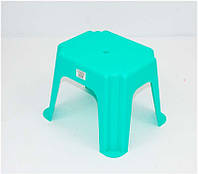 """Стульчик маленький прямоугольный (10) - цвет бирюзовый """"K-PLAST"""""""