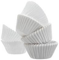 Тарталетки (капсулы) бумажные для кексов, капкейков белые (21*16 мм) 2000 шт.