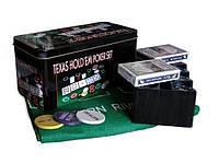 Набор для покера в металлической коробке 200 шт