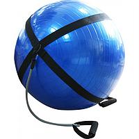 Мяч для фитнеса латексными эспандерами 65 см (anti burst system)