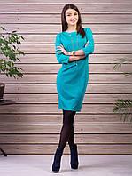 Элегантное платье бирюзового цвета , размер L