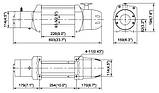 Лебідка ComeUp SEAL 9.5 s 12V кевлар, фото 2