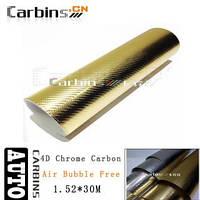 Карбоновая пленка 4D золото