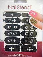 Трафарет для дизайна ногтей (LK18)