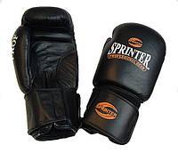 Перчатки для бокса Sprinter Profi 12 oz кожа черные