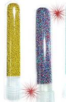 Бисер (бульонки) для дизайна ногтей   Mart  .Цвет фиолетовый , средний