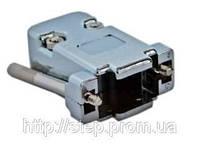 Корпус DNT-9C для разъема D-Sub 9/15 контактов, металлизированный с удлиненными винтами