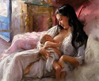 Алмазная мозаика Мать с младенцем 40 х 30 см (арт. FS426) рисование камнями