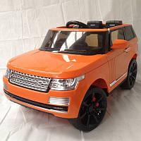 Детский электромобиль Джип Range Rover 6628 оранжевый  ***
