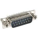 Роз'єм DSB-15MКL — 15 контактів вилка на плату, вертикальна з кріпленням h=10.0 мм