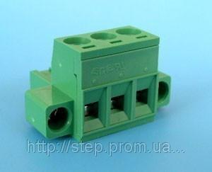ETB42030G000 Клеммник разрывной 3 контакта на провод с креплением, 300В 10A 5,08 мм