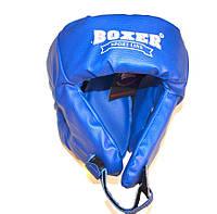 Боксерский шлем Boxer закрытый (пвх) синий
