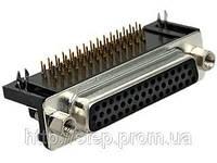 Разъем DHR-44F — 44 контакта, розетка на плату, прямой угол