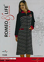 """Молодежный велюровый халат больших размеров """"Romeo&Life"""" Турция"""