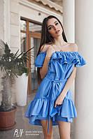 Женское платье из хлопка на одно плечо