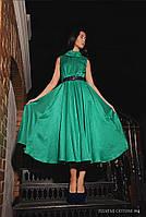 Платье женское, зеленое, мультисезон P-COTONI №2