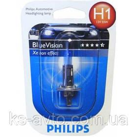 Автомобильная лампа Philips Blue Vision ultra H1 12258BVB Xenon effect