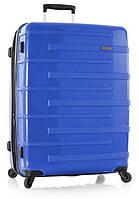 Чемодан пластиковый большой на четырёх колёсах  Heys Helios compact (L) Blue 92 л. 923623 Синий