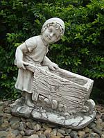 Садовая скульптура Девушка с тележкой 45*24*51 cm