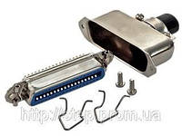 Разъем CENC-50F — розетка 50 контактов для пайки на кабель, (металлический корпус)