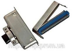 Роз'єм CENC-50M — вилка 50 контактів для пайки на кабель, (металевий корпус)