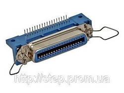 Роз'єм CENR-50F — вилка 50 контакту для пайки на плату, прямий кут