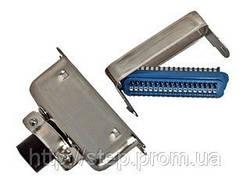 Роз'єм CENC-36M — вилка 36 контактів для пайки на кабель, (металевий корпус)