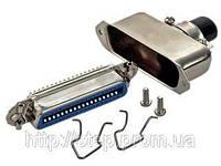 Разъем CENC-36F — розетка 36 контактов для пайки на кабель, (металлический корпус)