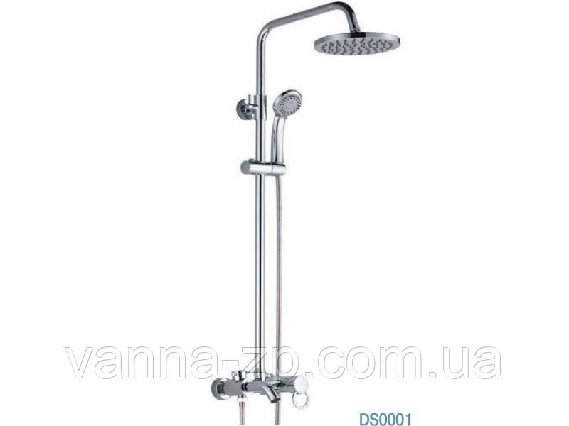 Душевая стойка со смесителем (колонна) для ванны, душ-кабины