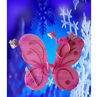 Карнавальные крылья,крылья бабочки розовые, купить оптом и розницей,MK 1408 KRK-0002