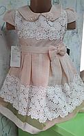 Абрикосовое платье для девочки