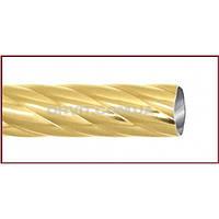 Труба к кованым карнизам скрученная ø25мм цвет золото длина 2,4м