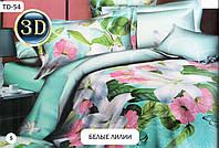 """Комплект постельного белья  2-х  спальный бязь """"Белые лилии"""" (кп2б)"""