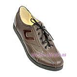 Туфли женские кожаные на шнурках, цвет коричневый, фото 3