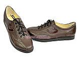 Туфли женские кожаные на шнурках, цвет коричневый, фото 4